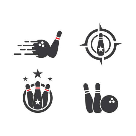 Bowling logo and symbol vector design illustration Illustration