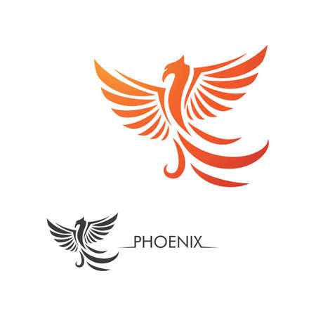 Phoenix fire Bird Logo Template vector Logo
