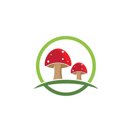 Mushroom icon vector template