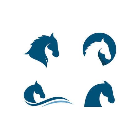 Horse illustration template Vector design Vecteurs