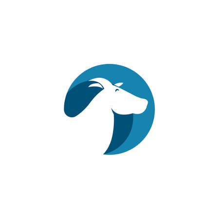 Goat illustration Template vector design Illustration