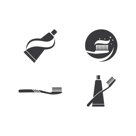 Tooth brush paste icon vector illustration vector