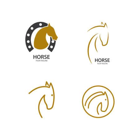Horse illustration template Vector design Vector Illustratie