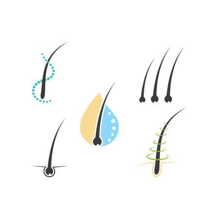 Follicle Hair treatment illustration vector icon template