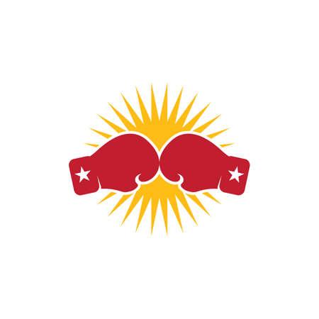 Boxing gloves sport element vector flat design