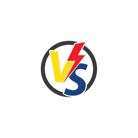 Versus text or vs letter vector design Vektorové ilustrace