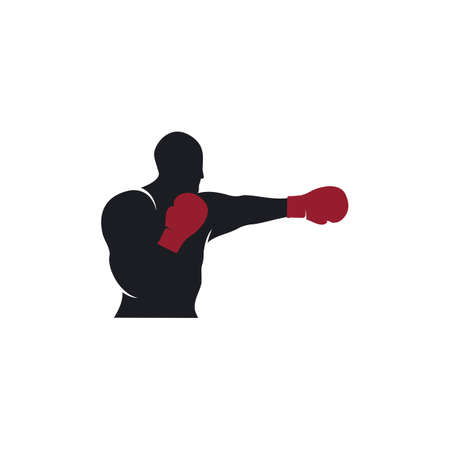 Boxing sport element vector flat design 矢量图像