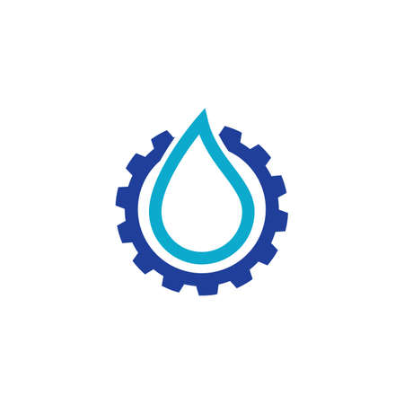 Plumbing symbol vector design business template