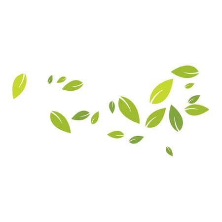 Green leaves background pattern Ilustração