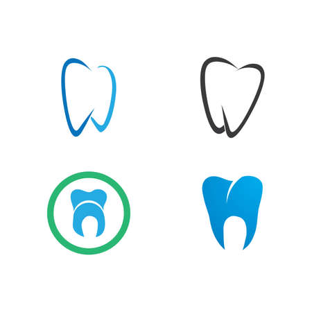 Smile Dental logo Template vector illustration icon design Illusztráció