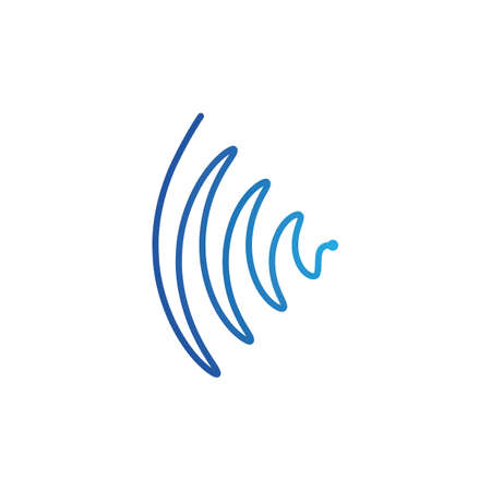 sound wave music spectrum vector template