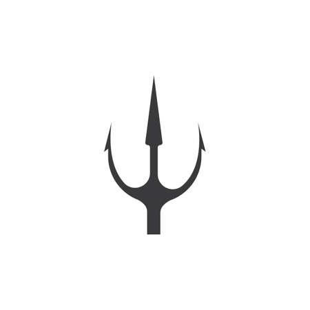 Trident   Template vector icon illustration design Stock Illustratie