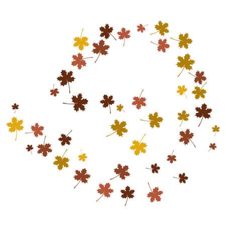 autumn back ground logo template