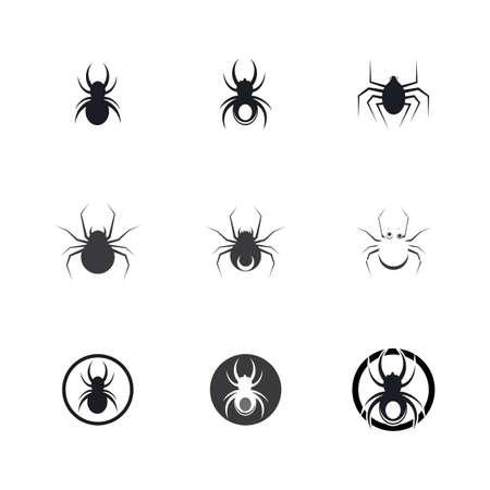 spider illustration icon template