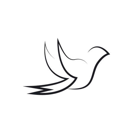 Bird wing Dove Template illustration
