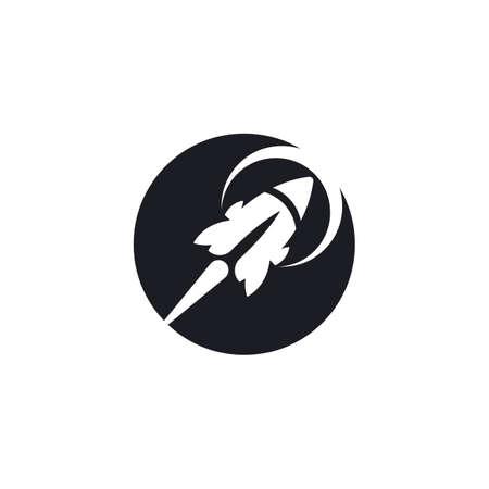 Rocket     vector icon template Çizim