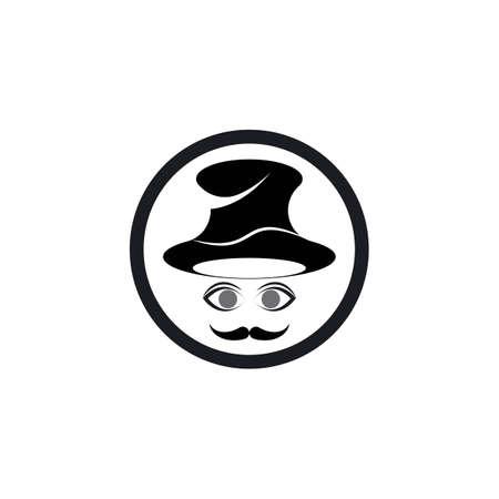 mustache icon template vector design Çizim