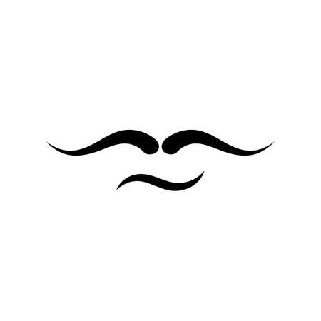 mustache icon template vector design  イラスト・ベクター素材