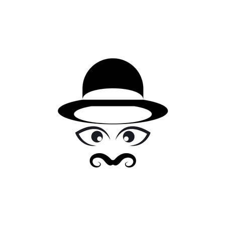 mustache icon template vector design Illustration