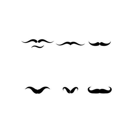 mustache template icon design vector Stok Fotoğraf - 155413287