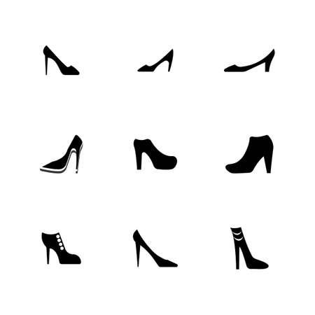 woman shoe ,High Heel   vector template Stok Fotoğraf - 155432984