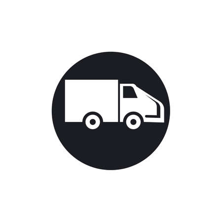 delivery truck icon template design Stok Fotoğraf - 155432995