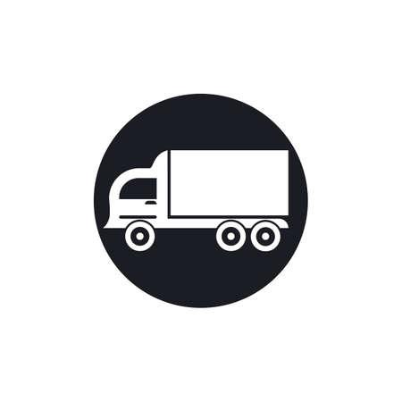 delivery truck icon template design