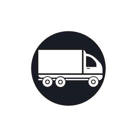 delivery truck icon template design Stok Fotoğraf - 155433013