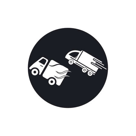 delivery truck icon template design Stok Fotoğraf - 155433017