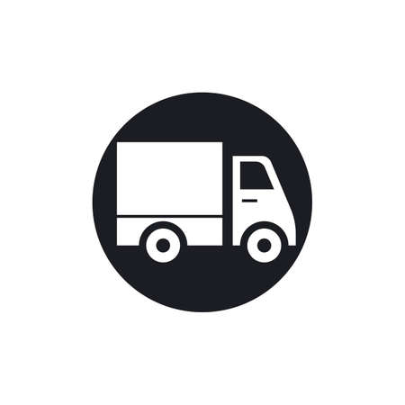 delivery truck icon template design Stok Fotoğraf - 155433025