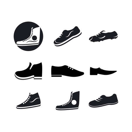shoe man   vector template design Stok Fotoğraf - 155433276