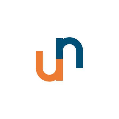 U N initial Letter   Template vector