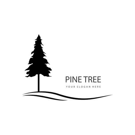 Pine tree     vector design Stok Fotoğraf - 155434784