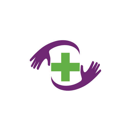Cross Medical symbol template vector illustration design Stock fotó - 155434798
