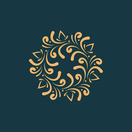 Luxurious  , emblem vector design Çizim