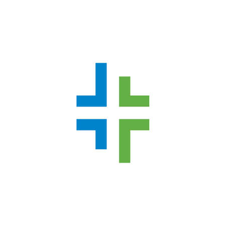 Cross Medical symbol template vector illustration design