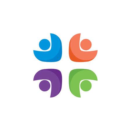 Community, network and social symbol vector design Stok Fotoğraf - 155434929