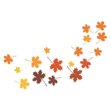 autumn Leaf background template vector illustration
