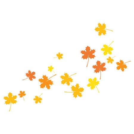 autumn Leaf background template vector illustration