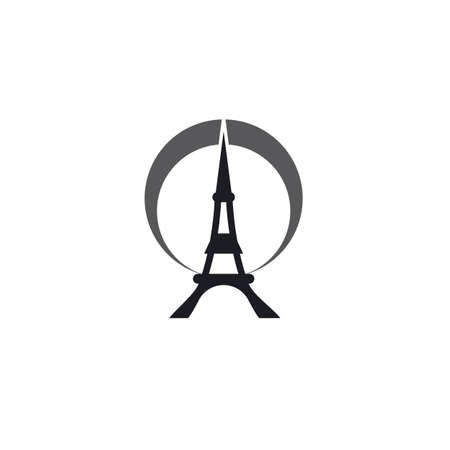 Eiffel tower   vector template 向量圖像