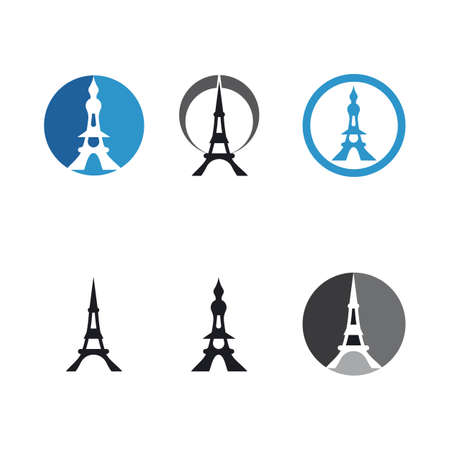 Eiffel tower illustration vector template 向量圖像