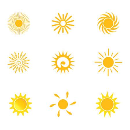 sun vector icon template