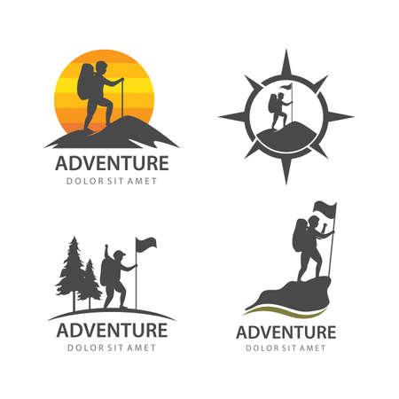 Climber expedition adventure illustration vector design