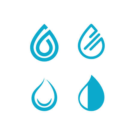 Water drop illustration template vector design  イラスト・ベクター素材