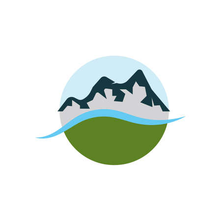 Mountains vector Template illustration