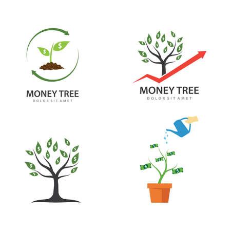 Money tree illustration vector design