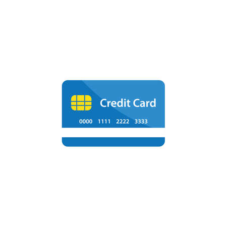 Credit card icon illustration vector flat design