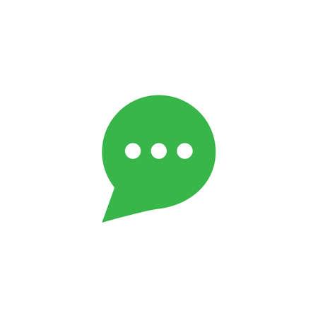 Speech bubble icon vector design  イラスト・ベクター素材