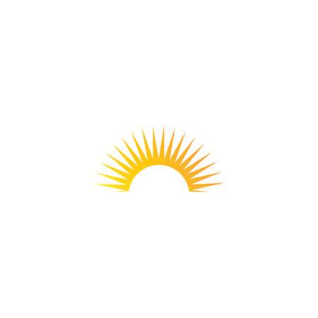 sun ilustration logo vector icon template 向量圖像