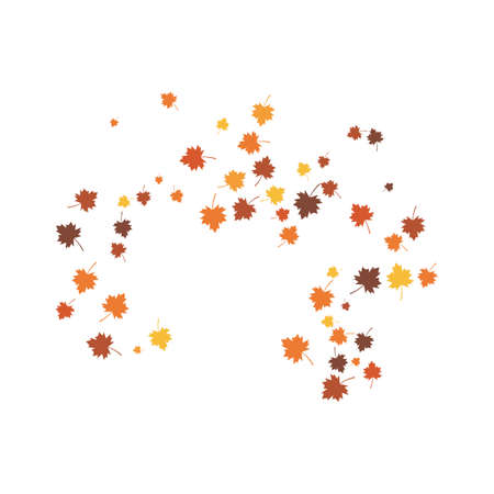 Autumn Leaf background template vector illustration Ilustração